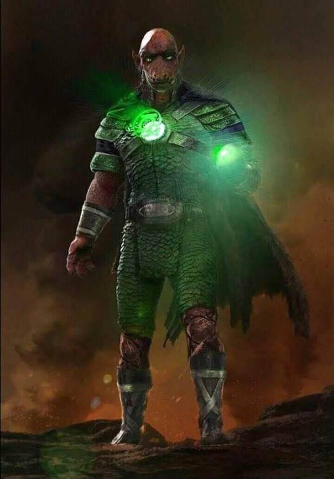 Justice league Yalan gur concept art