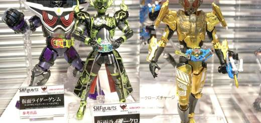 Kamen Rider Genm God Maximum Gamer Level Billion, Kamen Rider Cronus Chronicle Gamer, and Kamen Rider Grease
