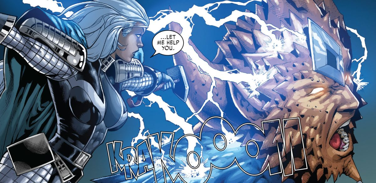 Storm Gets Back her Stormcaster Hammer - X-Men Gold # 25