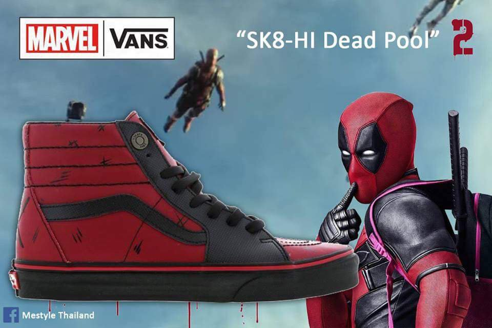 b4e3eed55cf Marvel and Vans Collaborate for Deadpool 2 SK8-HI Sneakers - The .
