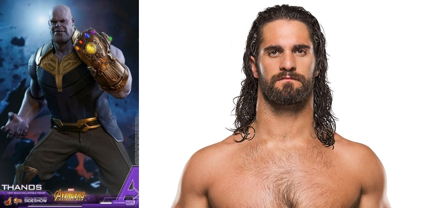 WWE Superstars Rock Superhero Outfits for Summerslam 2018 including Seth Rollins as Thanos