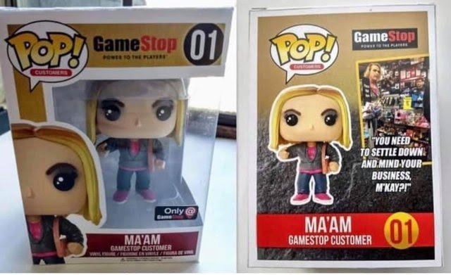 The Gamestop Maam Gets a Funko Pop Figure