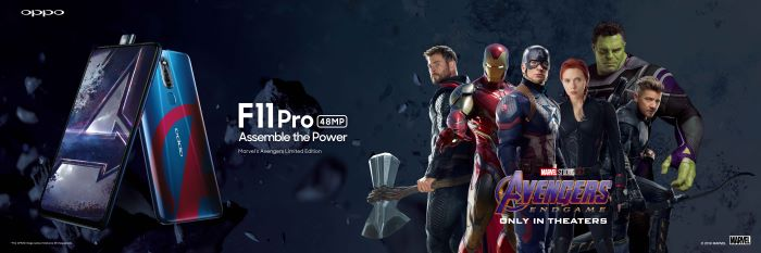 OPPO and Marvel have partnered up to release the OPPO F11 Pro Avengers Endgame Limited Edition which comes with a Cap case and additional stuff for P19,990