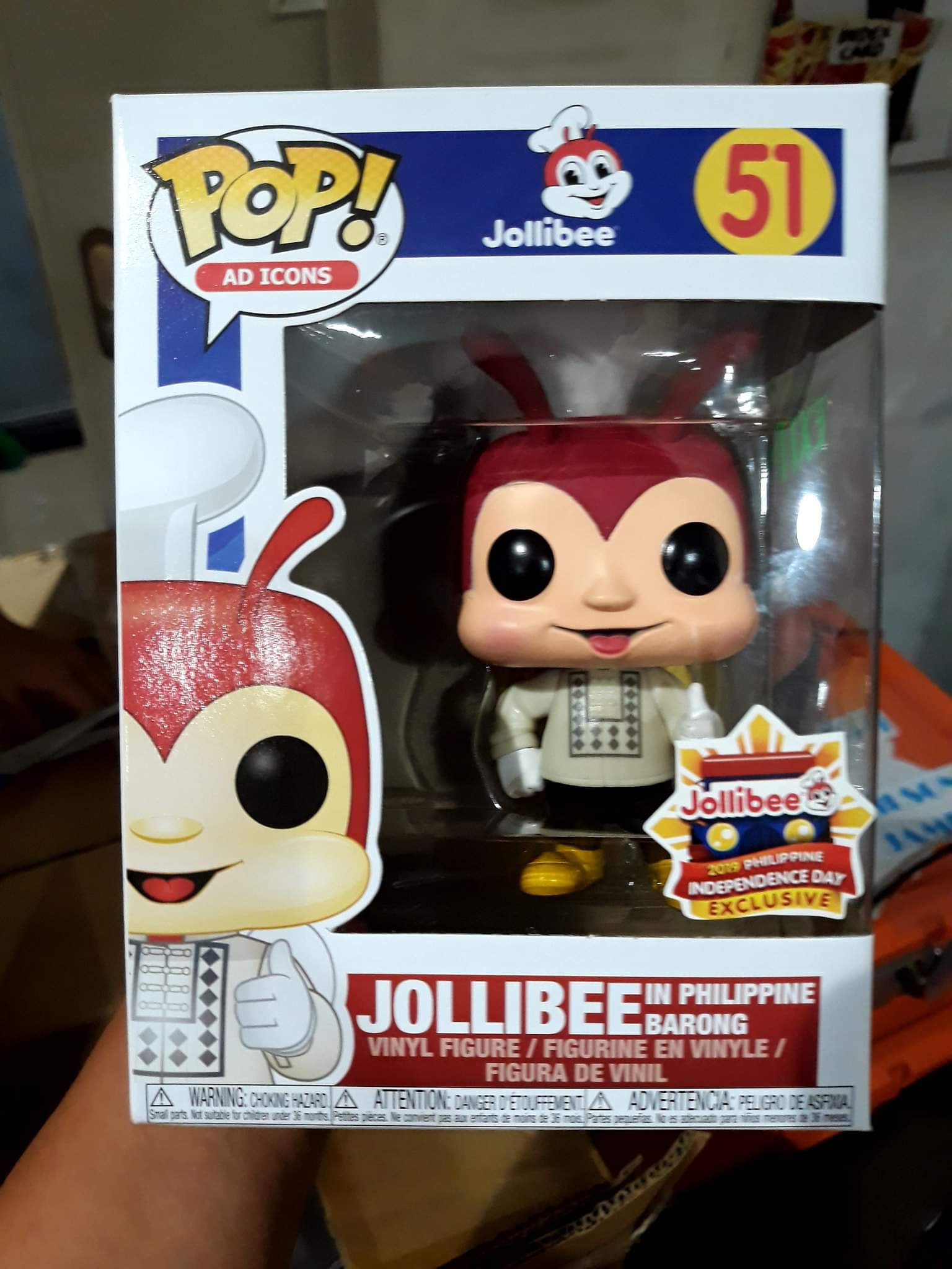 144 pieces for each stores for Jollibee in Barong Funko Pop