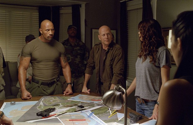 Adrianne Palicki,Bruce Willis,Dwayne 'The Rock' Johnson,Elodie Yung