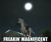 Freakin' Magnificent Other classes wish they got a mount with this much flair.