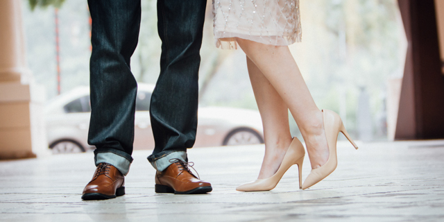 Engagement Shoe Shot