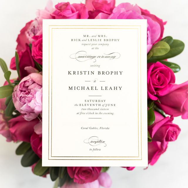 Minted Eloquence Invitations