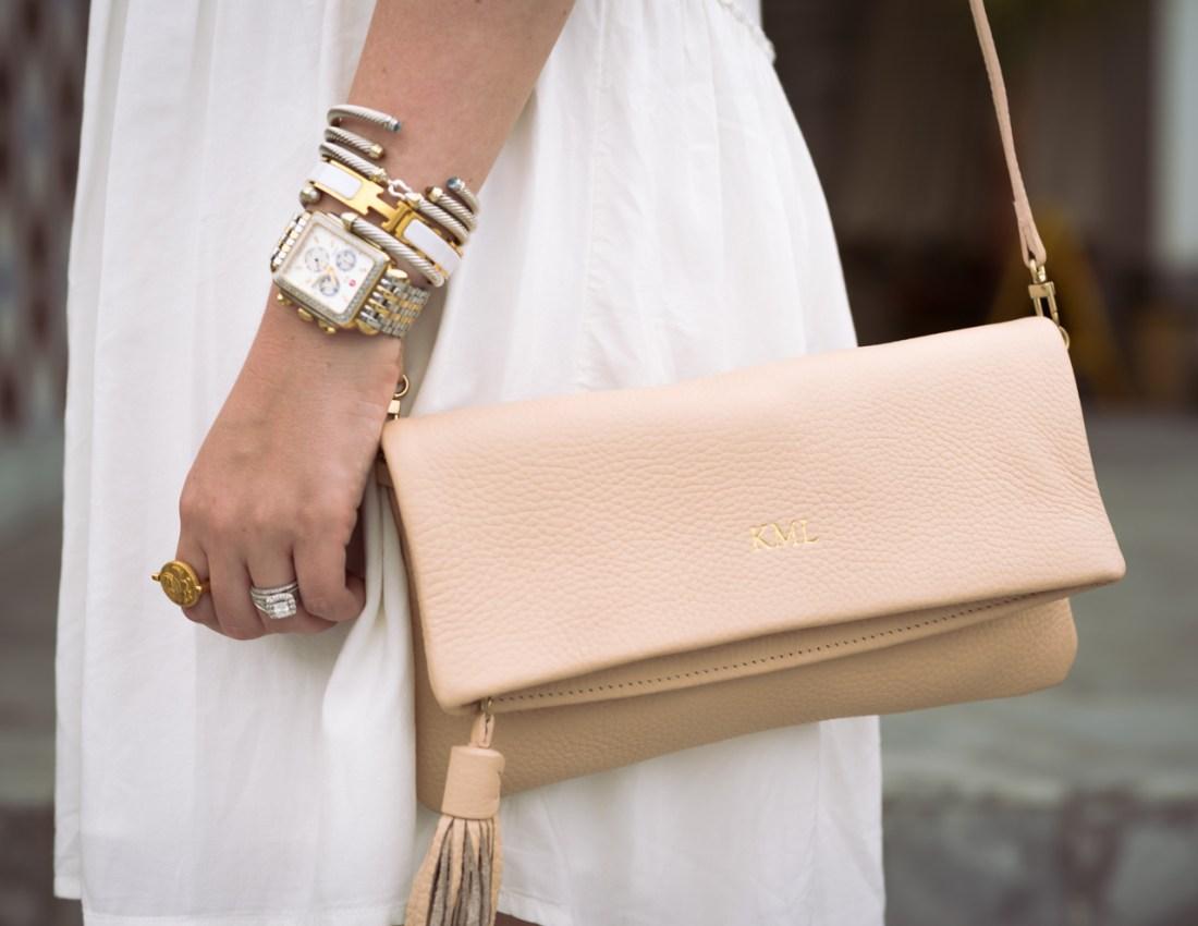 Blush GiGi New York Stella Fold-Over Clutch Fancy Things