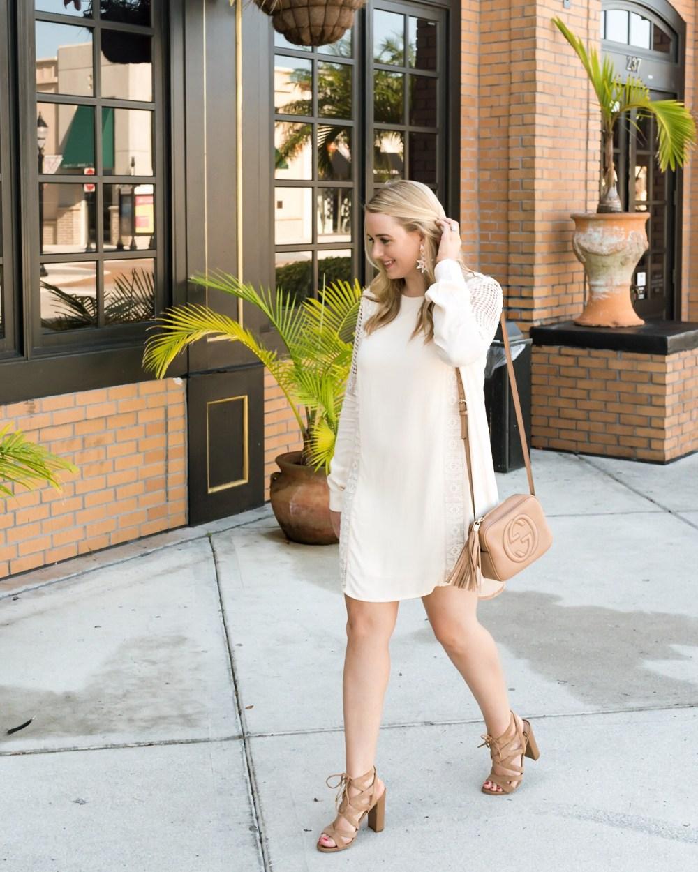 Crochet Inset Cotton Shift Dress Nordstrom Fancy Things