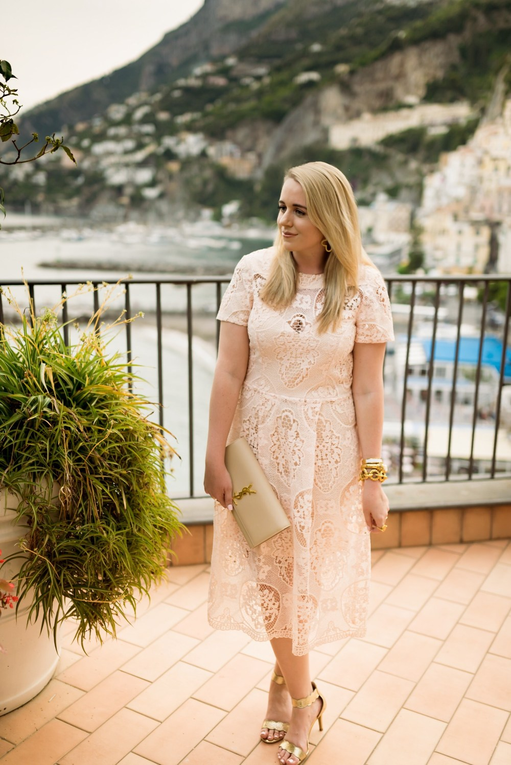 Fancy-Things-Lace-Midi-Dress-Amalfi-Amalfi-Coast-View
