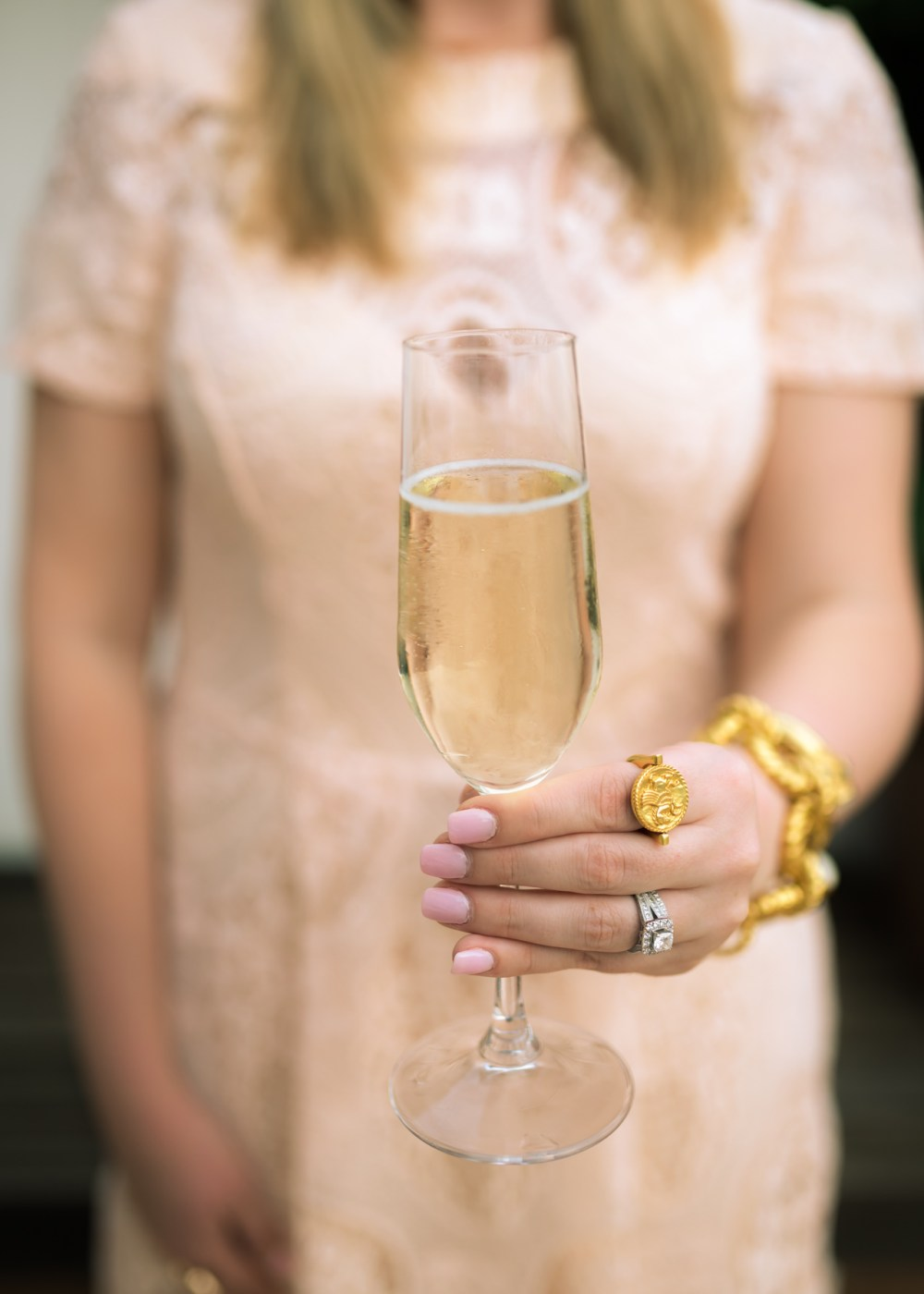 Fancy Things Lace Midi Dress Champagne Amalfi Honeymoon