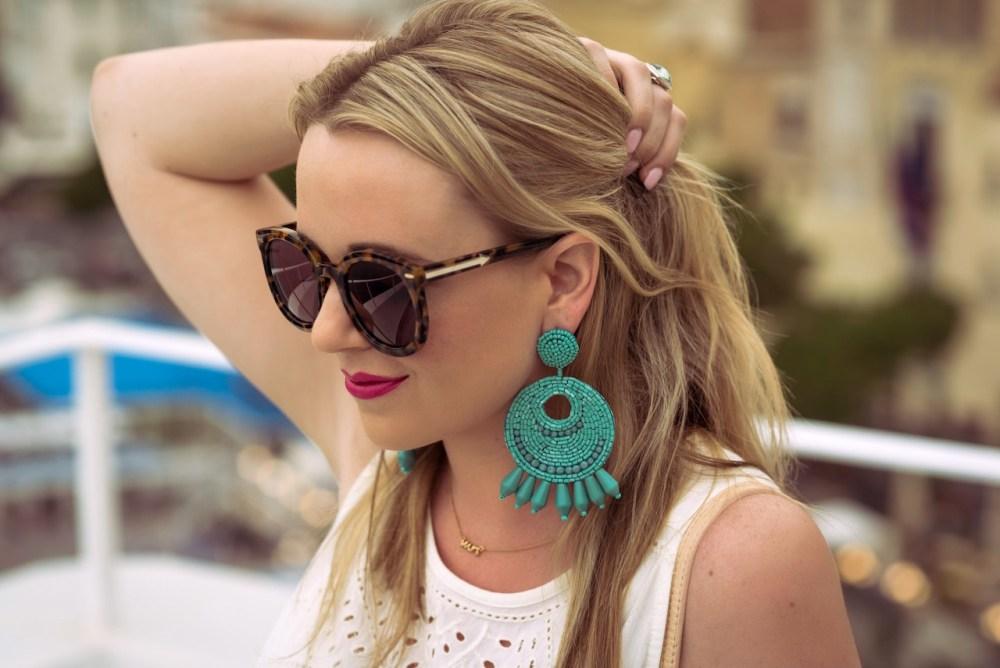 Seed Bead Hoop Earrings Amalfi Fancy Things Honeymoon
