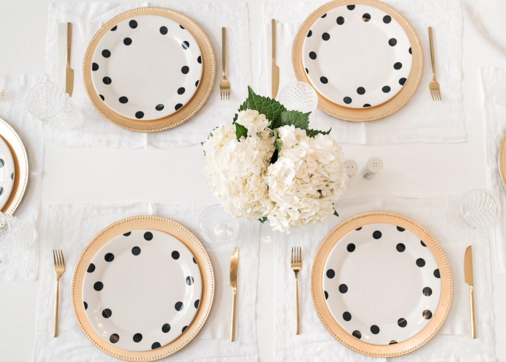 Kate Spade Dinner Plates Deco Dot Fancy Things