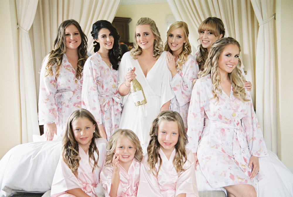 bridesmaids-robes-glitter-champagne-bottle-fancy-things