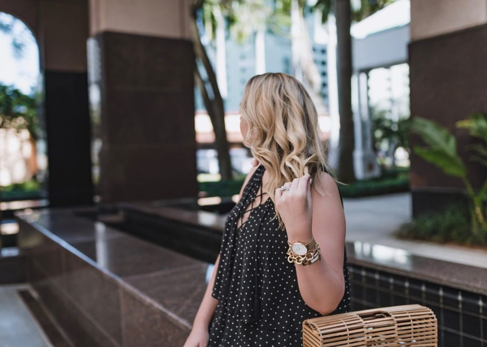 Polka Dot Romper for Spring