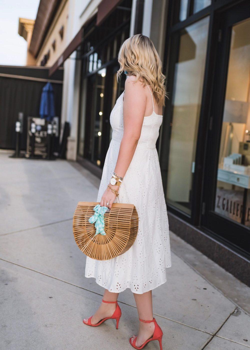 Fit & Flare Cutwork Midi Dress for Women Fancy Things