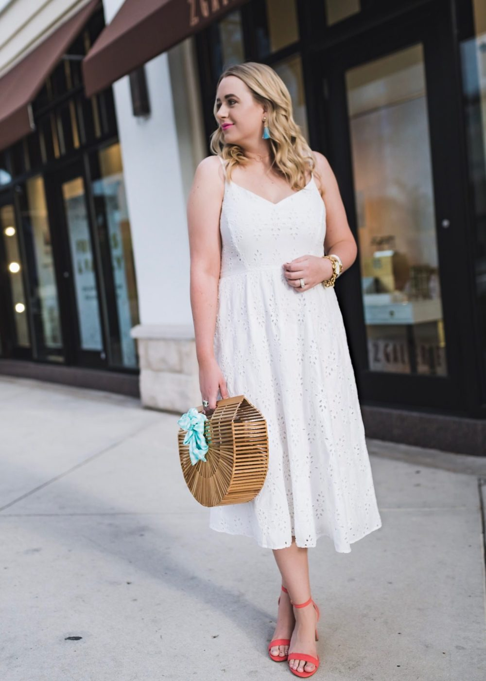 Fit & Flare Cutwork Midi Dress for Women Old Navy Fancy Things
