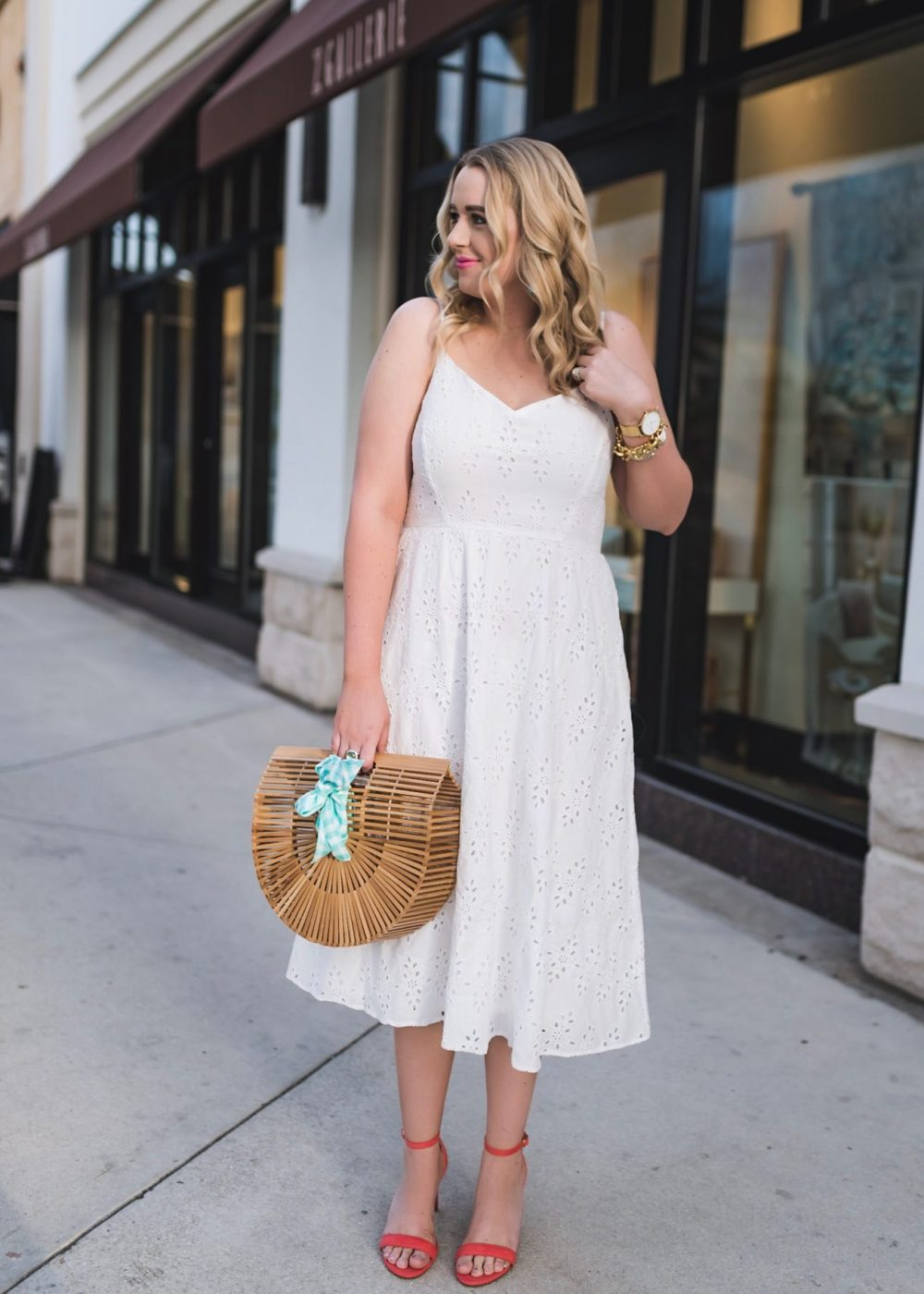 Little White Eyelet Midi Dress Old Navy Fancy Things