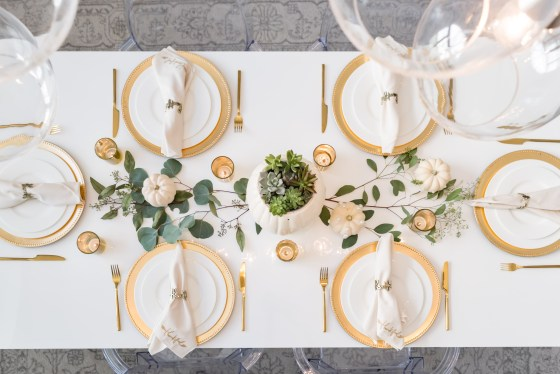 Modern Glam Fall Tablescape Succulents Fancy Things