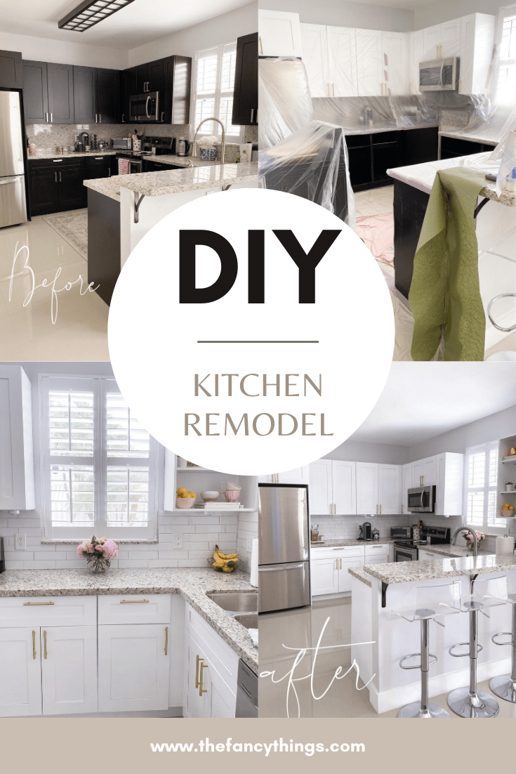Diy Kitchen Remodel Before After The Fancy Things