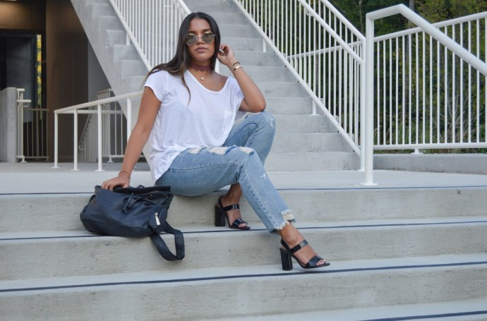 ana faneite back to school shein ripped jeans