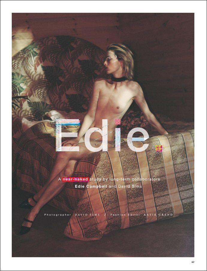 Edie Campbell Topless (4 Photos)