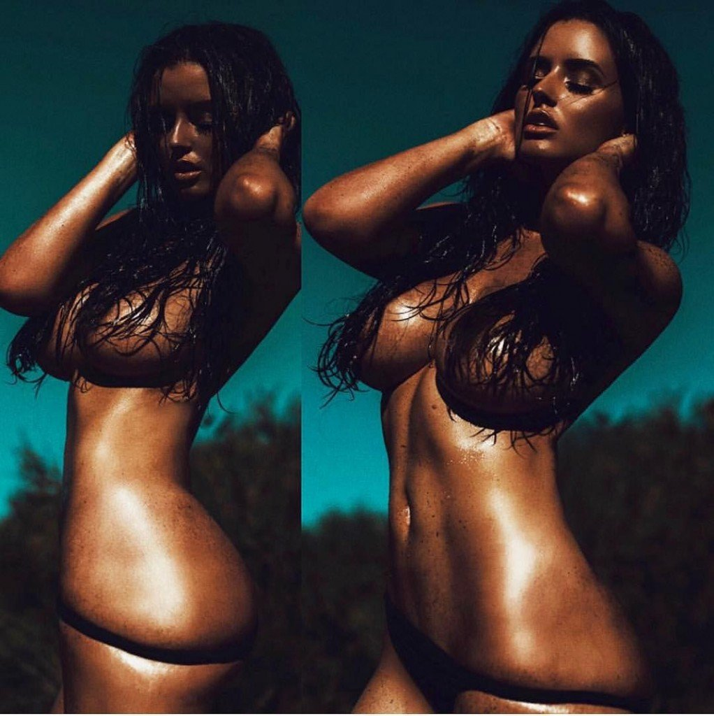 Abigail Ratchford Topless (3 Photos)