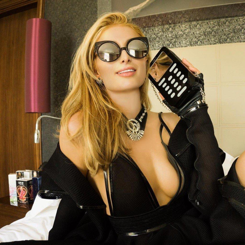 Paris Hilton Braless (2 Photos)