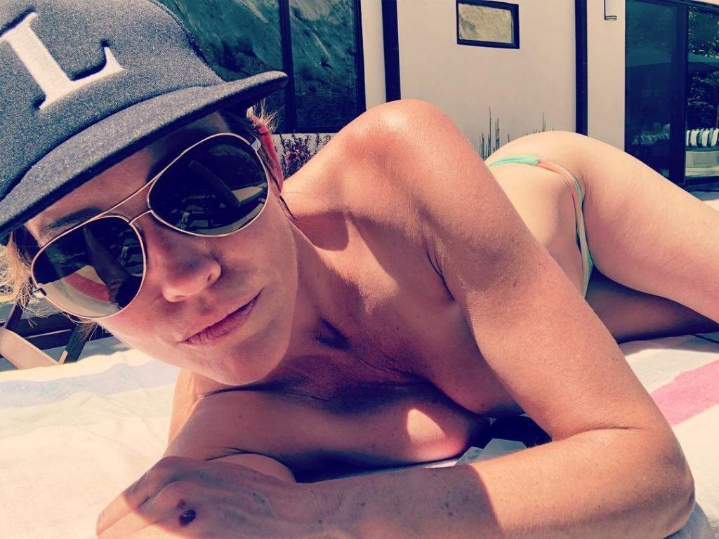 Tricia Helfer Topless (2 Pics + Video)