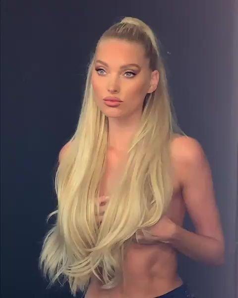 Elsa Hosk Topless (16 Photos + Video)