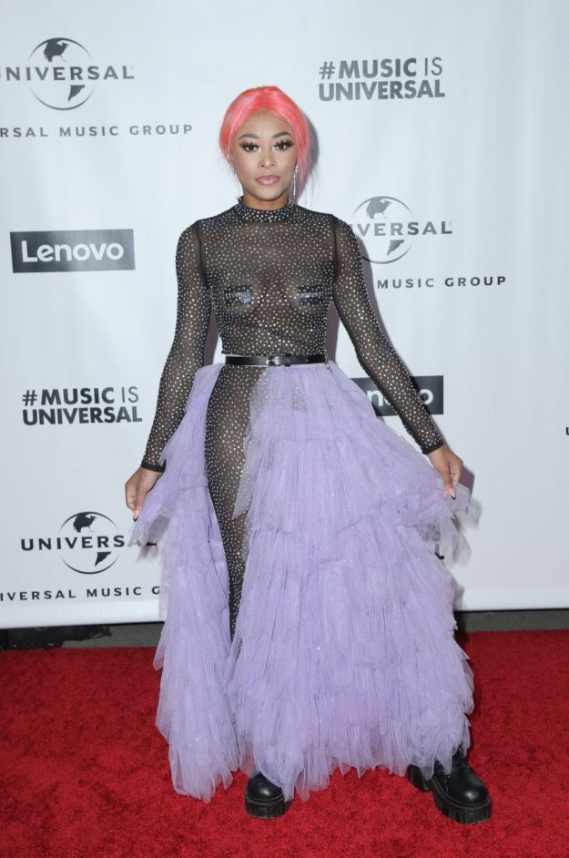 Maya Bs Tits at the Universal Music Groups Grammy After