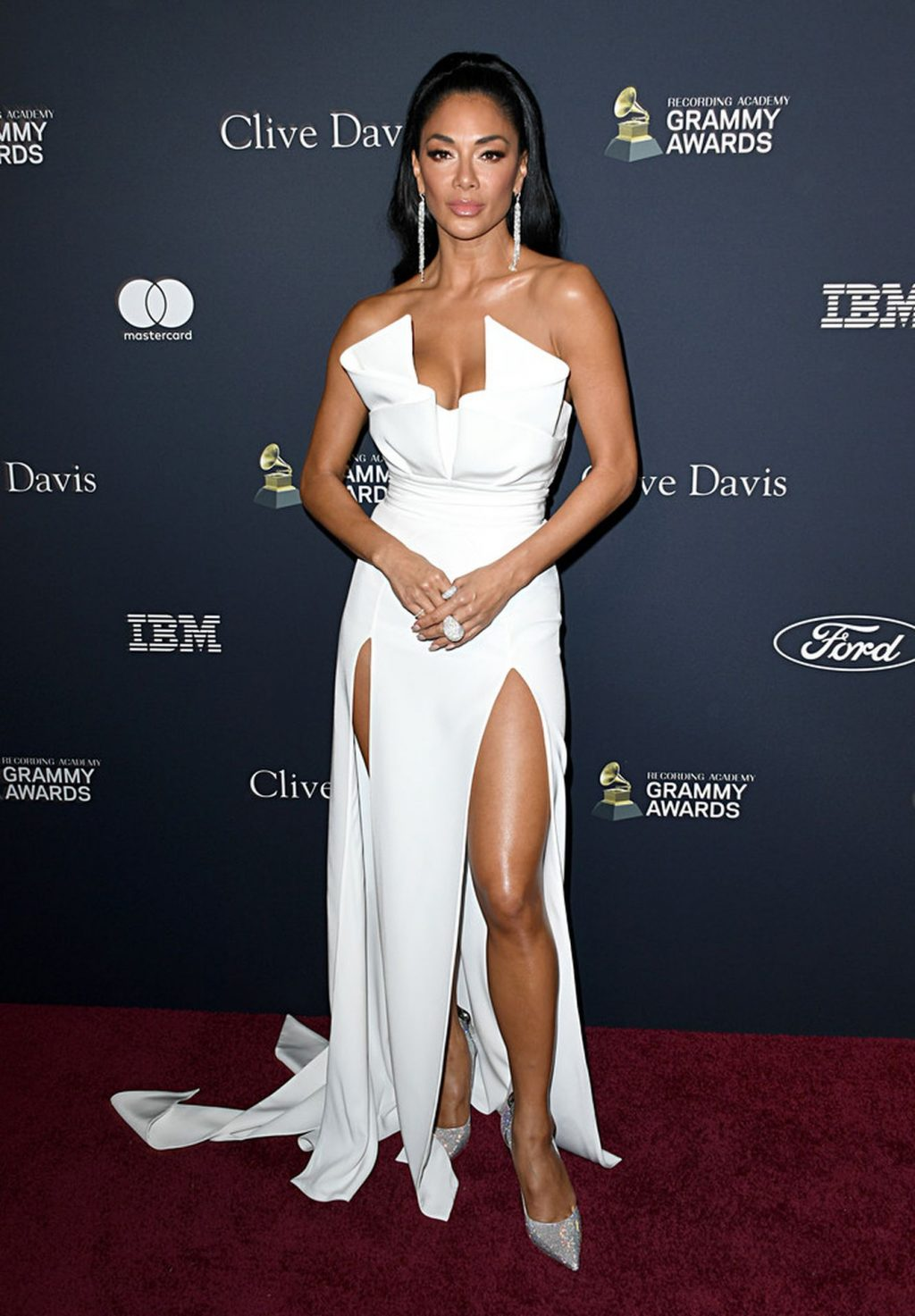 Nicole Scherzinger Stuns at the Clive Davis' 2020 Pre-Grammy Gala (37 Photos)