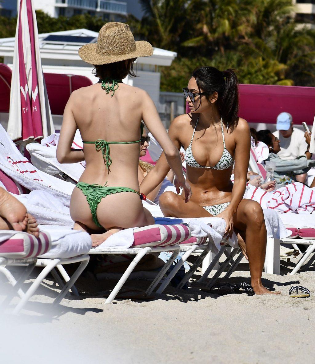 Ambra Gutierrez Hits The Beach in Miami Wearing a Tiny Bikini (62 Photos + Video)