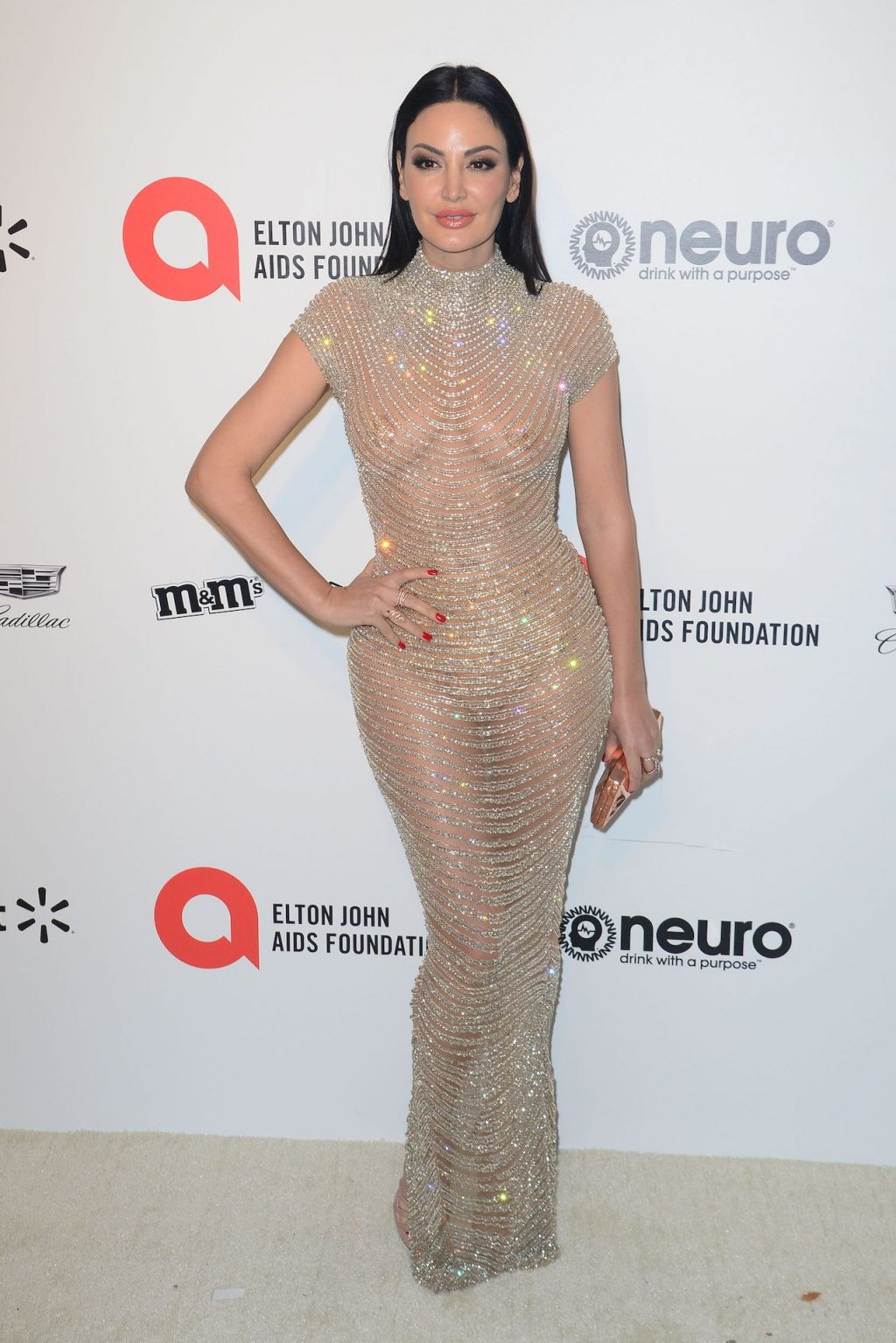 Bleona Qereti Shows Her Tits at the Elton John AIDS Foundation Academy Awards Party (22 Photos + Videos)