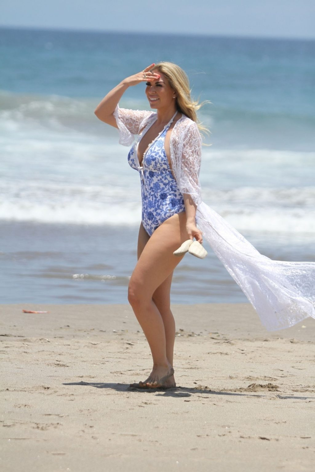 Frankie Essex Is Seen on the Beach in Lanzarote (8 Photos)
