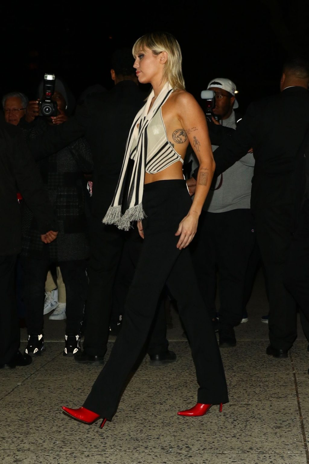 Miley Cyrus Has a Nip Slip in a Silk Top Arriving at The Bowery Hotel (61 Photos)