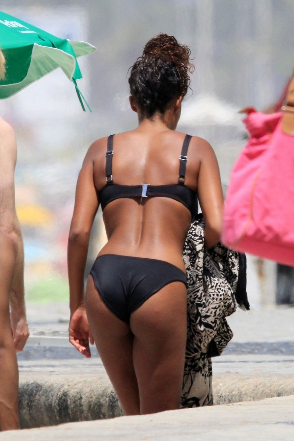 Tina Kunakey Enjoys the Rio Sunshine in a Sexy Black Bikini (27 Photos)