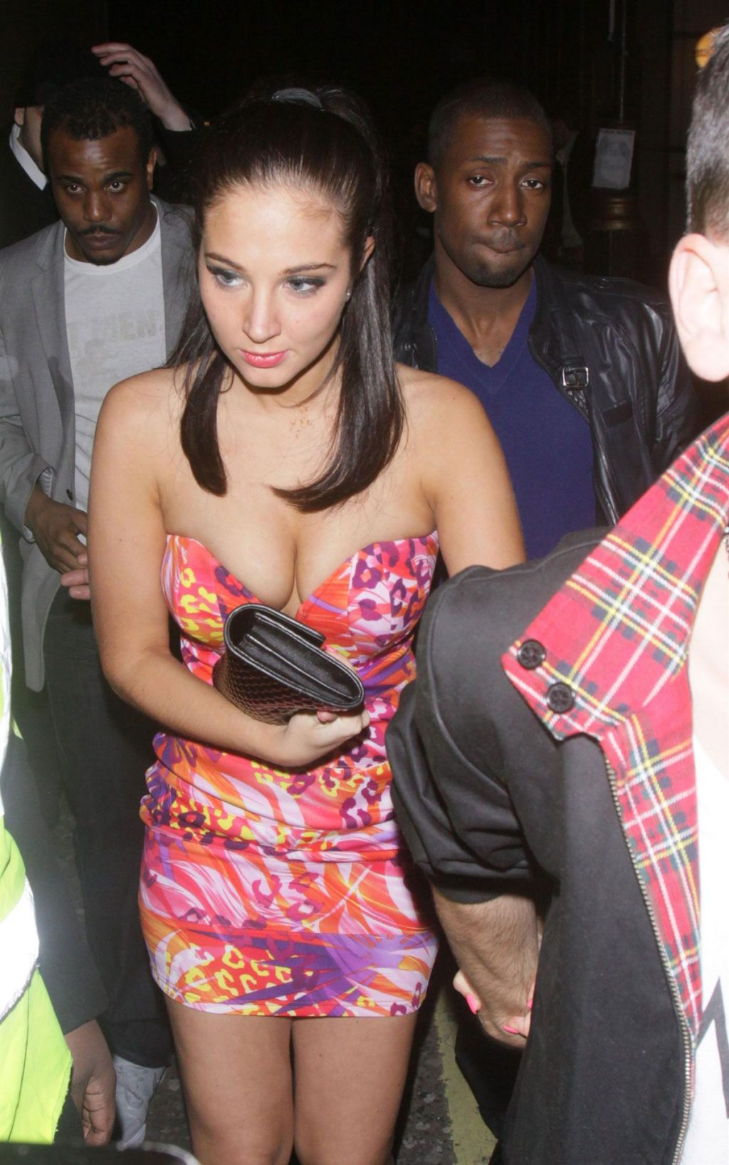 Busty Tulisa Contostavlos Leaves The Project Club in London (14 Photos)