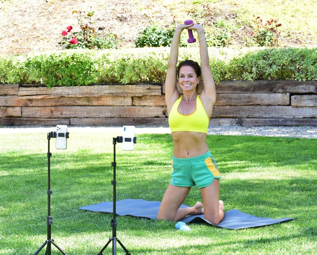 Brooke Burke Shows Off Her Sexy Body at Home in Malibu (18 Photos + Video)