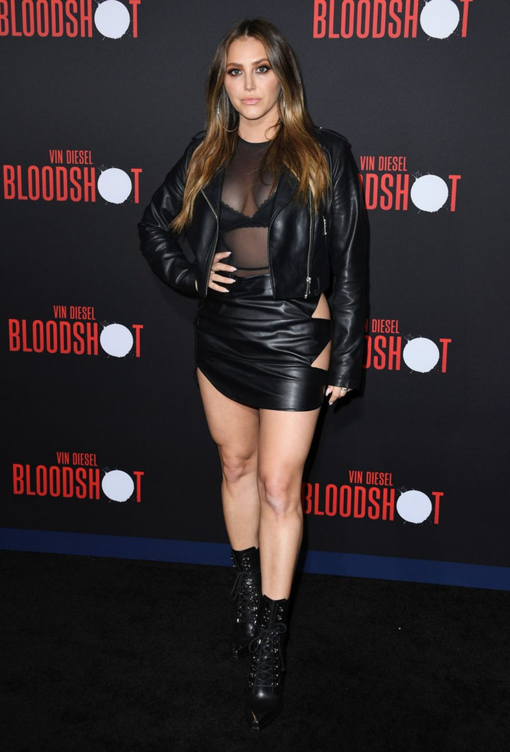 Cassie Scerbo Flaunts Her Legs and Tits at the Bloodshot Premiere in LA (10 Photos)