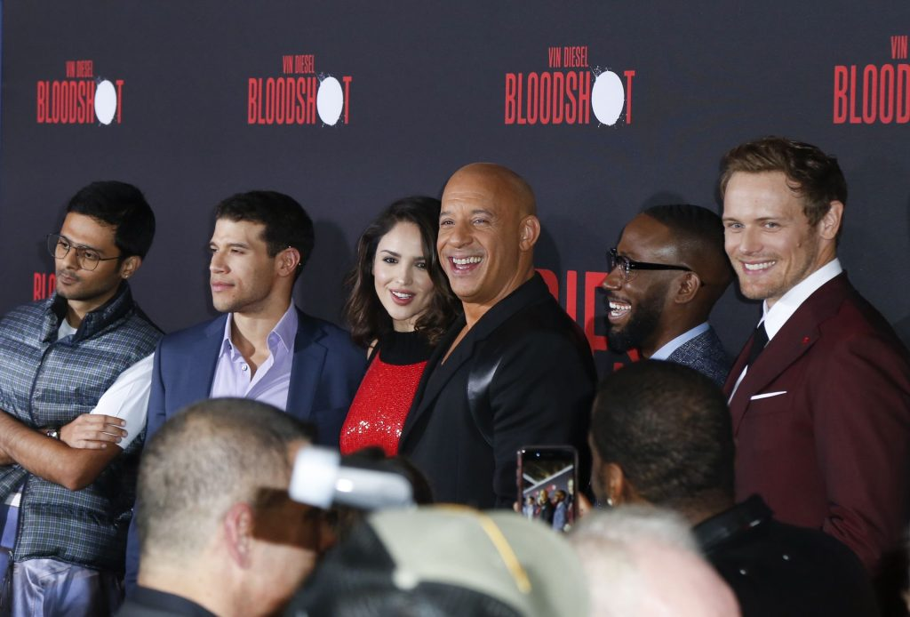 Eiza Gonzalez Stuns in a Red Dress at the Bloodshot Premiere in LA (68 Photos)