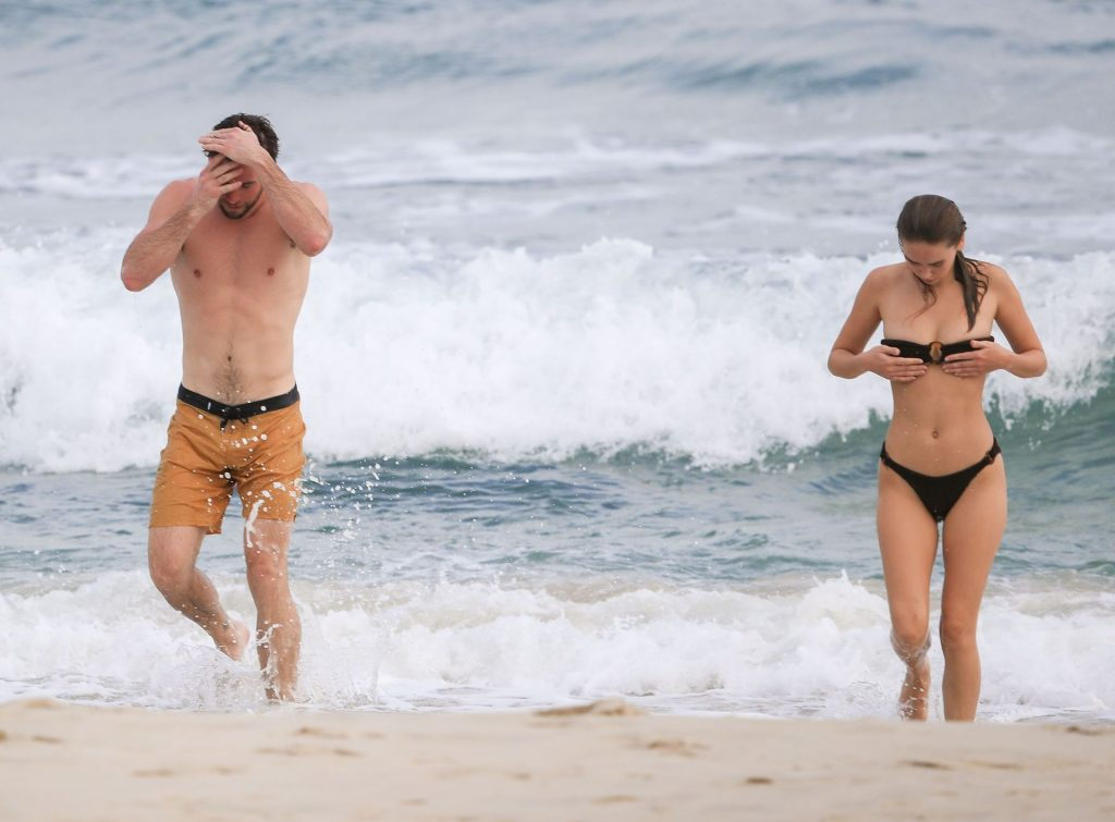 Liam Hemsworth Shows Off His Ripped Beach Bod During A Morning Swim With Gabriella Brooks In Byron Bay (25 Photos)