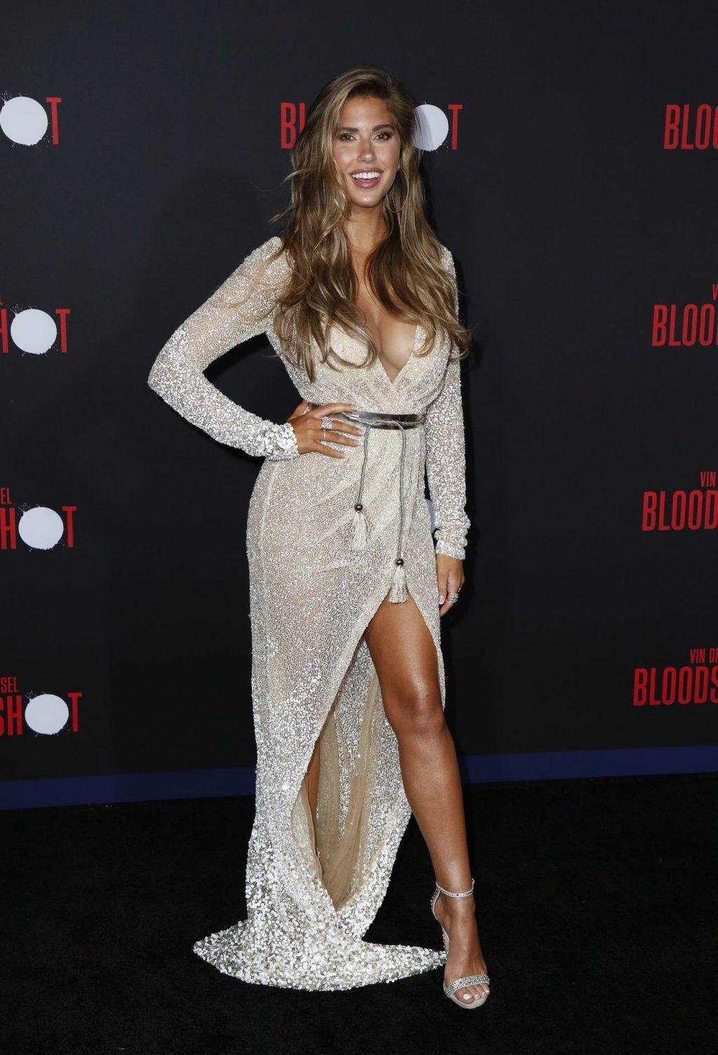 Kara Del Toro Displays Her Boobs at the Bloodshot Premiere in LA (26 Photos)