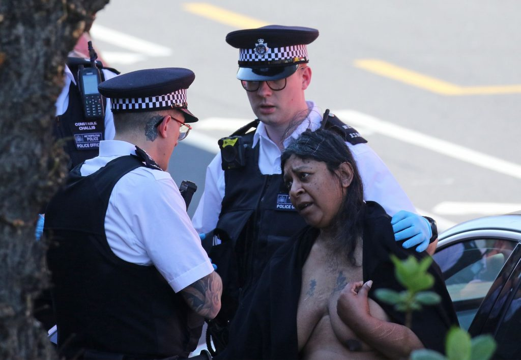 Naked Woman During COVID-19 Pandemic in London (3 Photos)