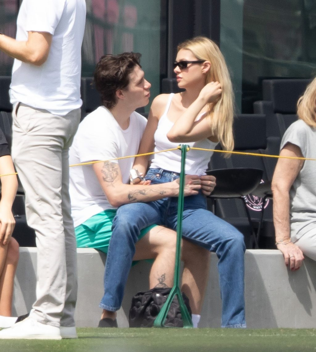 Brooklyn Beckham Tenderly Kisses Nicola Peltz in Miami (7 Photos)