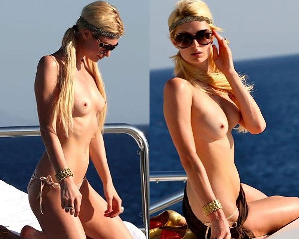 Paris Hilton Nude (1 Collage Photo)