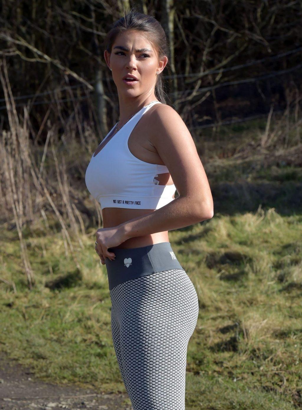 Rebecca Gormley is Seen on a Run in Newcastle (13 Photos)