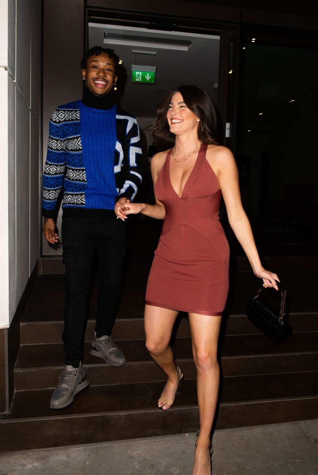 Rebecca Gormley & Biggs Chris Are Seen Leaving Their Hotel in East London (33 Photos)