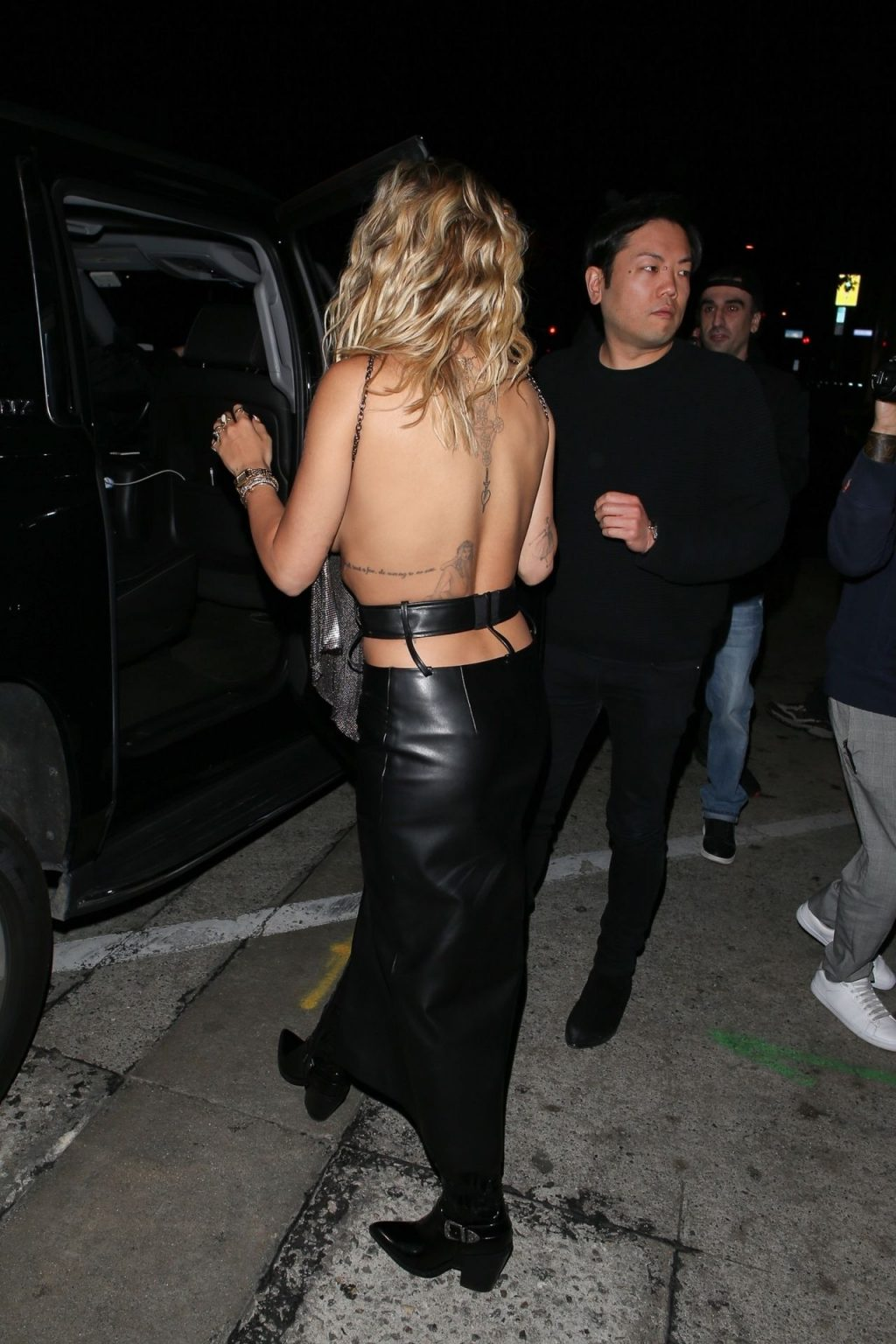 Rita Ora Arrives at Craig's in a Sexy Backless See-Through Top (79 Photos)